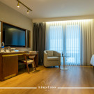 Working and relaxing area in a Double room and Twin room